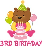 3rd Birthday Sweet Bear T-shirts And Gifts