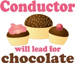 Funny Chocolate Music Conductor T-shirts
