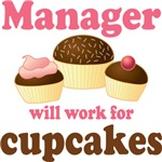 Funny Manager Cupcake Design T-shirts and Gifts
