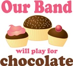 Funny Chocolate Band T-shirts And Gifts