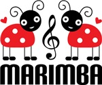 Music Ladybugs Marimba Tshirts and Gifts