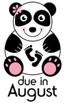 August Maternity Panda Announcement T-shirts