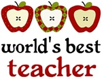 Worlds Best Teacher Apple