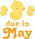 May Baby Duck Design Maternity Tees