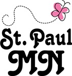 St. Paul Minnesota Butterfly T-shirts and Gifts