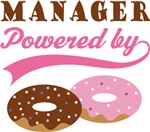 Manager Powered By Doughnuts Gift T-shirts
