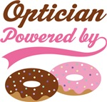 Optician Powered By Doughnuts Gift T-shirts