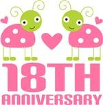 18th Anniversary Pink Ladybug T-shirts