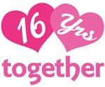 16th  Anniversary Hearts Gift T-shirts