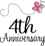 4th Anniversary Pink Butterfly Keepsake Gifts
