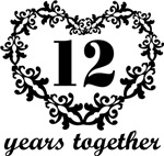 12th Anniversary Heart Gifts Together