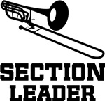 Trombone Section Leader Music T-shirts
