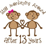 13th Anniversary Funny Monkey Gifts