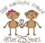 25th Anniversary Funny Monkey Gifts