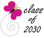 CLASS OF 2030 T GIFTS with butterfly