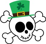 Funny St. Patrick's Day Skull Design T-shirts