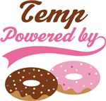 Temp Powered By Doughnuts Gift T-shirts