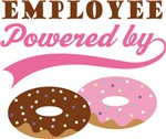 Employee Powered By Doughnuts Gift T-shirts