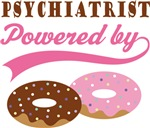 Psychiatrist Powered By Doughnuts Gift T-shirts