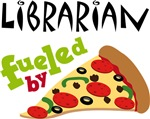 LIBRARIAN FUELED BY PIZZA GIFTS
