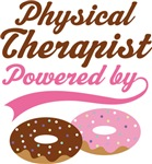 Physical Therapist Powered By Doughnuts T-shirts