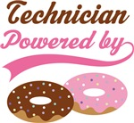 Technician Powered By Doughnuts Gift T-shirts