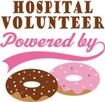Hospital Volunteer Powered By Doughnuts Gift T-shi