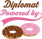 Diplomat Powered By Doughnuts Gift T-shirts