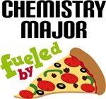 CHEMISTRY MAJOR FUELED BY PIZZA T-SHIRTS