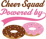 Cheer Squad Powered By Doughnuts Gift T-shirts