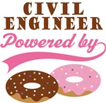 Civil Engineer Powered By Donuts Gift T-shirts