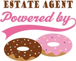 Estate Agent Powered By Donuts Gift T-shirts