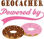 Geocacher Powered By Donuts Gift T-shirts