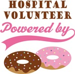 Hospital Volunteer Powered By Donuts Gift T-shirts