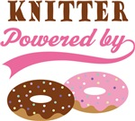 Knitter Powered By Donuts Gift T-shirts