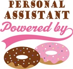 Personal Assistant Powered By Donuts Gift T-shirts