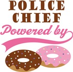 Police Chief Powered By Donuts Gift T-shirts