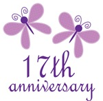17th Anniversary Gift Purple Butterfly