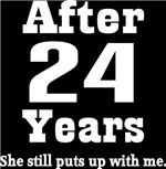 Funny 24th Anniversary Quote T-shirts and Gifts