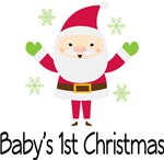 Baby's 1st Christmas Santa Clause T-shirts