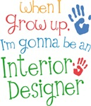 Future Interior Designer Kids T-shirts
