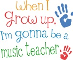 Future Music Teacher Kids T-shirts
