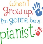 Future Pianist Kids T-shirts