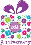 25th Anniversary Present T-shirts and Gifts