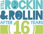 16th Anniversary Rock N Roll Tshirts