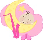 Saxophone Baby Music Clothing