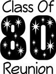Class Of 1980 Reunion Tee Shirts