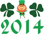Irish Leprechaun 2014 Shamrock T-shirts