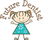 Future Dentist Stick Girl Occupation T-shirts