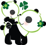 Irish Panda Bear St Patricks T-shirts